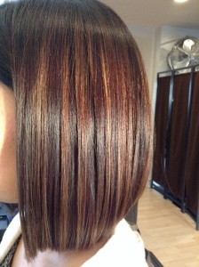 Bob haircut after a smoothing treatment By: Patricia Lynn Laas