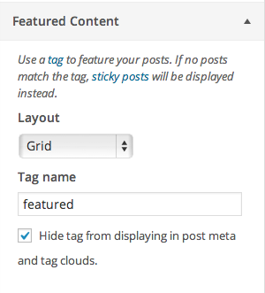 Featured Content Settings
